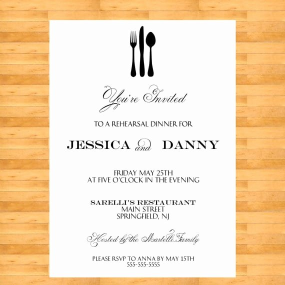 Rehearsal Dinner Menu Template Awesome Etsy Rehearsal Dinner Invitation Template