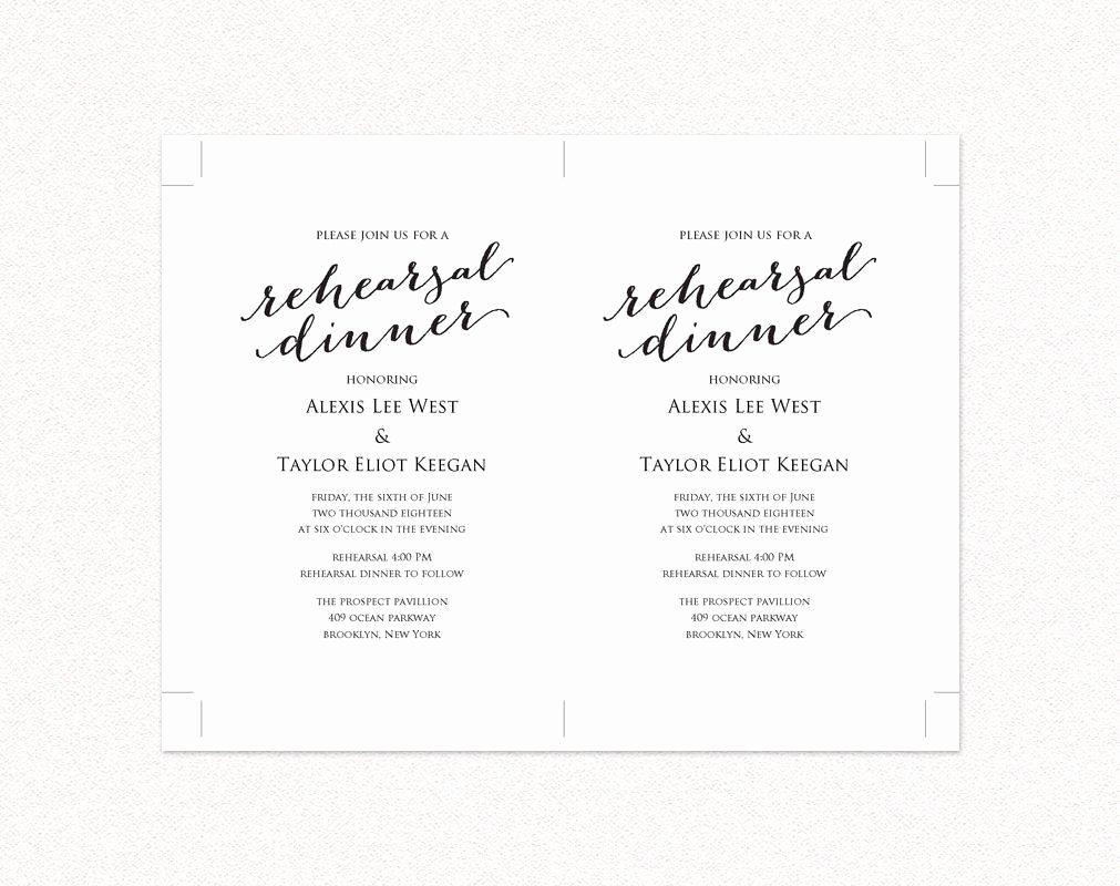 Rehearsal Dinner Menu Template Awesome Rehearsal Dinner Invitation Template · Wedding Templates