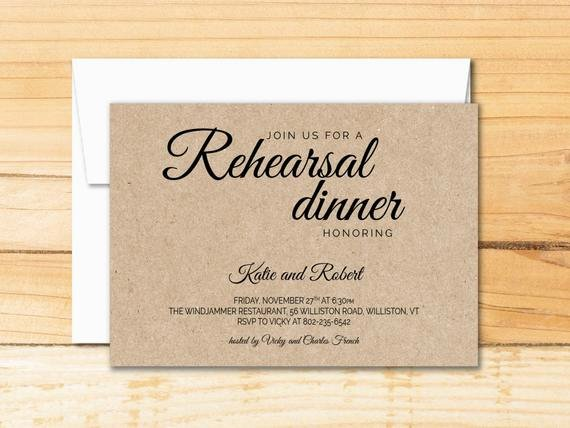 Rehearsal Dinner Menu Template Awesome Rehearsal Dinner Invitation Template Calligraphy Modern