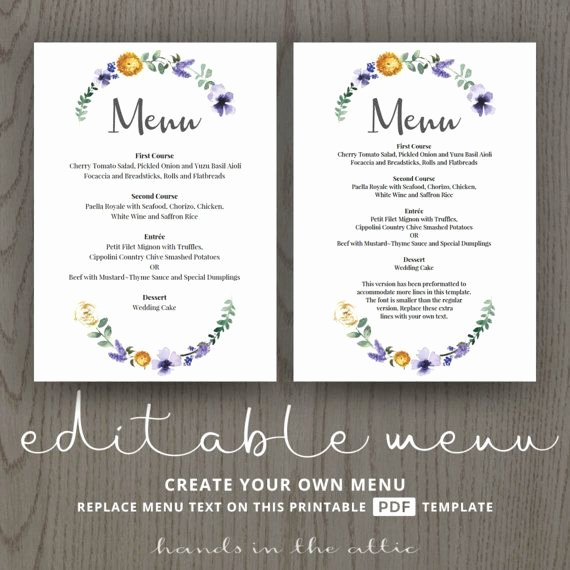 Rehearsal Dinner Menu Template Awesome Wedding Dinner Menu Cards for Wedding Buffet Menu Ideas