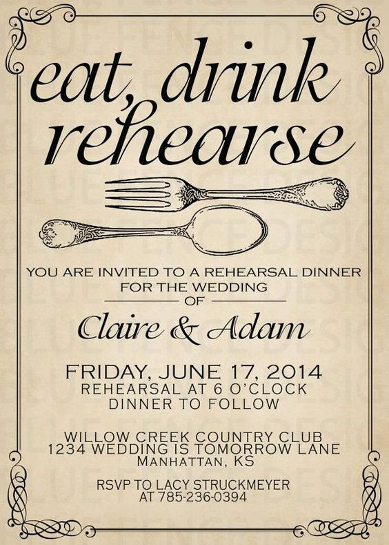 Rehearsal Dinner Menu Template Beautiful Dinner Dinner Invitations and Wedding On Pinterest