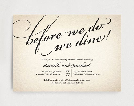 Rehearsal Dinner Menu Template Best Of Wedding Rehearsal Dinner Invitation Editable Template before