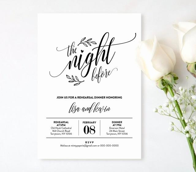 Rehearsal Dinner Menu Template Fresh Wedding Rehearsal Dinner Printable Diy Rehearsal