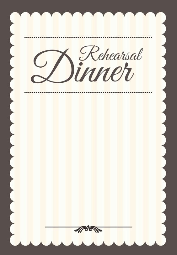 Rehearsal Dinner Menu Template New Dinner Parties Invitation Templates and Rehearsal Dinners