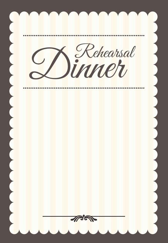 Rehearsal Dinner Menu Template New Dinner Parties Invitation Templates and Rehearsal Dinners
