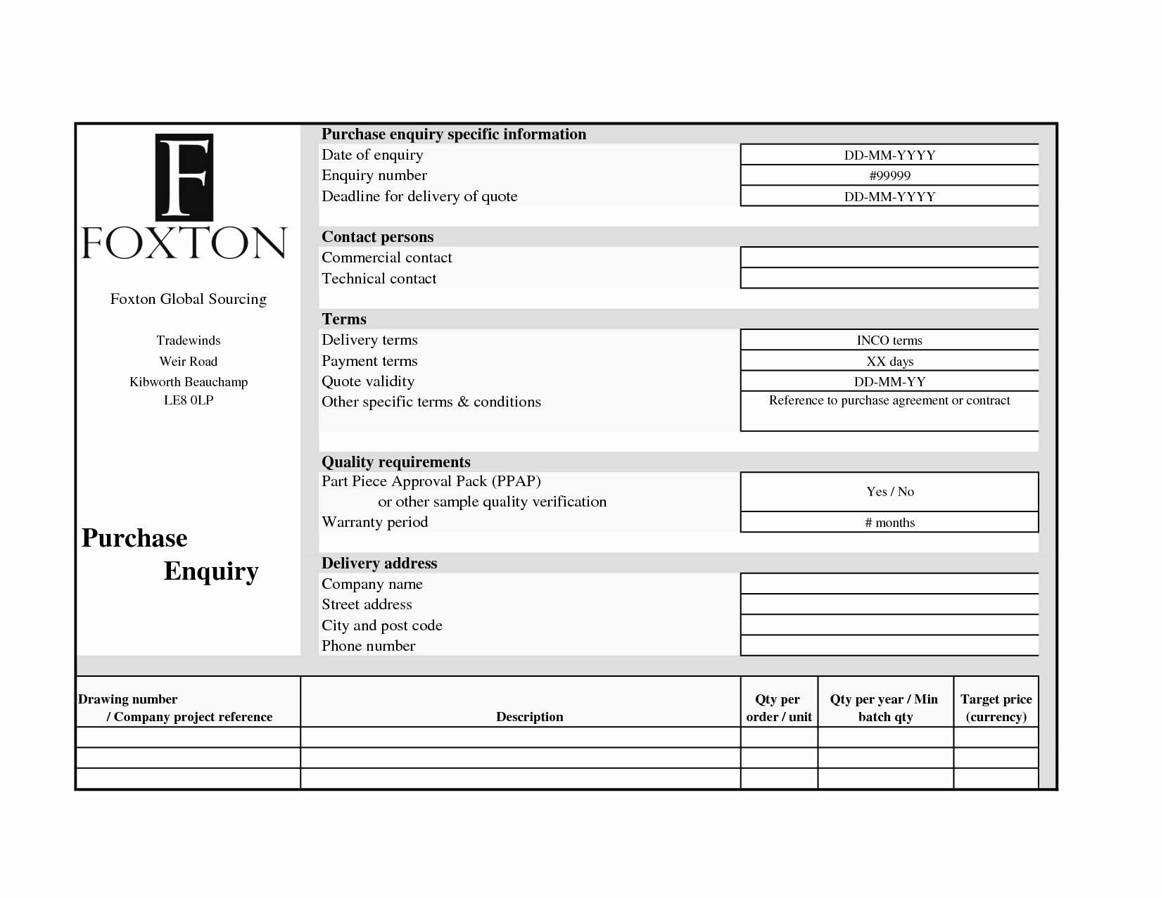 Request for Quote Template Excel Elegant 26 Of Request for Quotation Template Excel