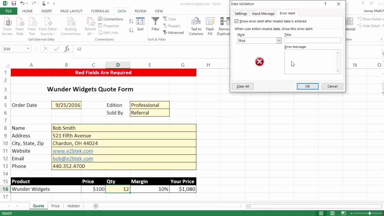 Request for Quote Template Excel Elegant Excel Quote form