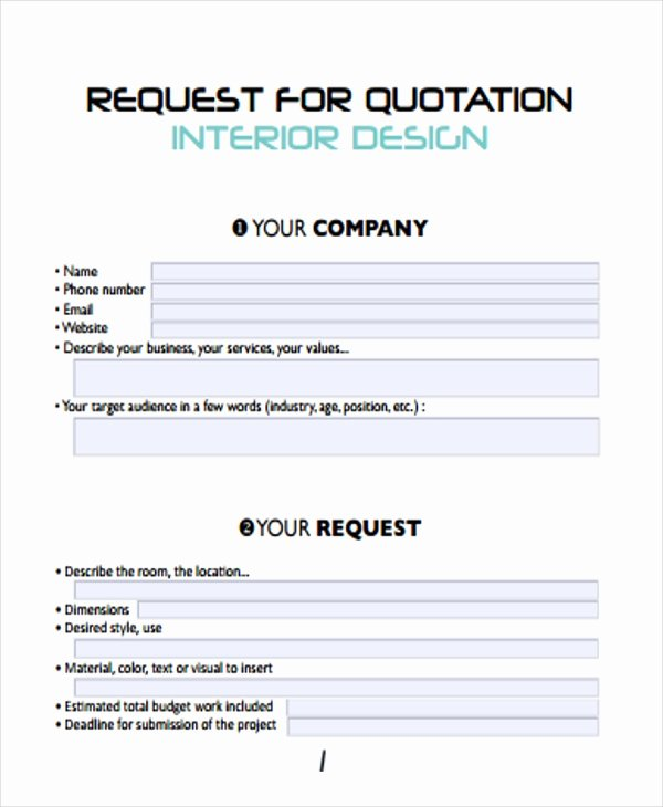Request for Quote Template Excel Unique 9 Design Quotation Template Word Pdf Psd Google Docs Apple Pages