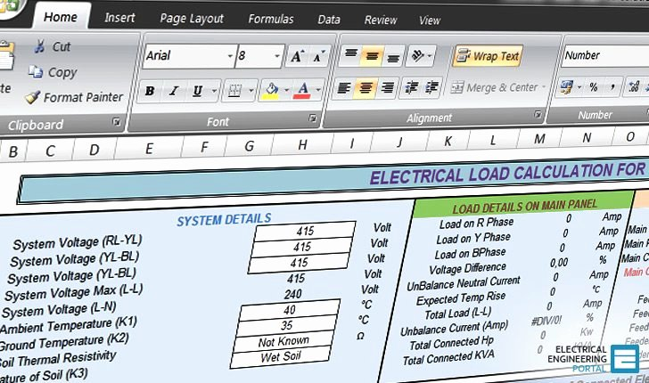 Residential Electrical Panel Schedule Luxury Calculate Electrical Load Of Panelboard Excel Spreadsheet