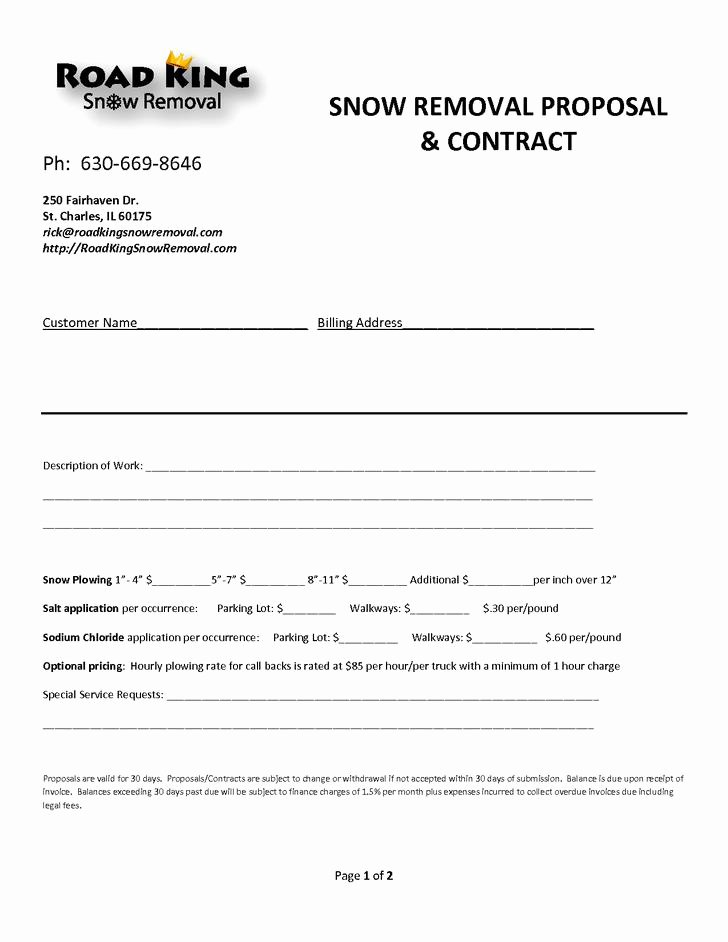 Residential Snow Removal Contract Template Luxury 20 Snow Plowing Contract Templates Free Download