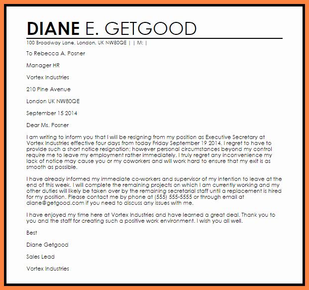 Resignation Letter 30 Days Notice Luxury 3 Resignation Letter 30 Days Notice