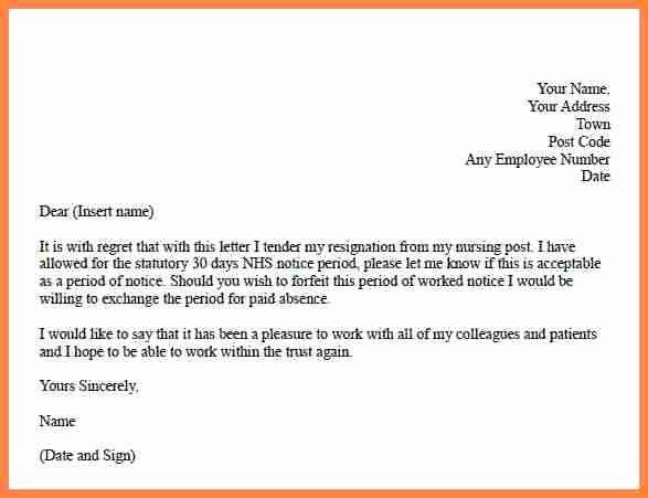 Resignation Letter 30 Days Notice Unique 3 Resignation Letter 30 Days Notice