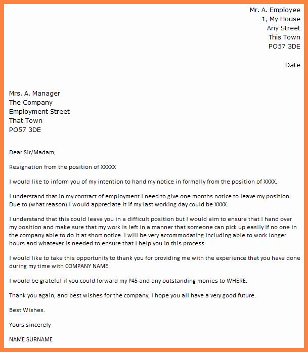 Resignation Letter 30 Days Notice Unique 6 Resignation Letter with 30 Days Notice Period