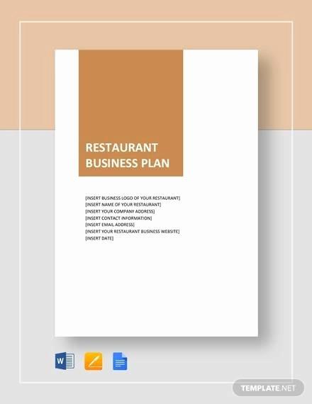 Restaurant Business Plan Pdf Fresh 13 Sample Restaurant Business Plan Examples In Word