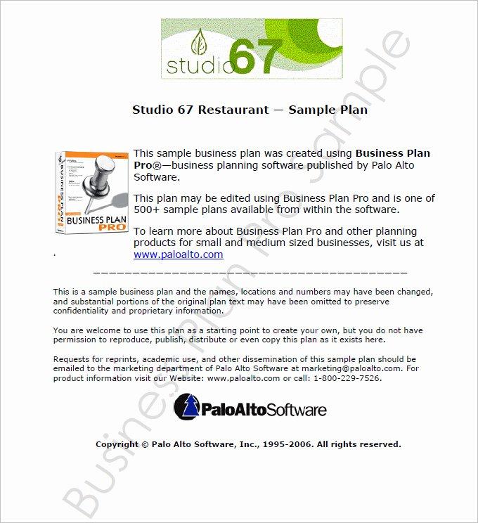 Restaurant Business Plan Pdf Luxury Restaurant Business Plan Template 13 Free Pdf Word