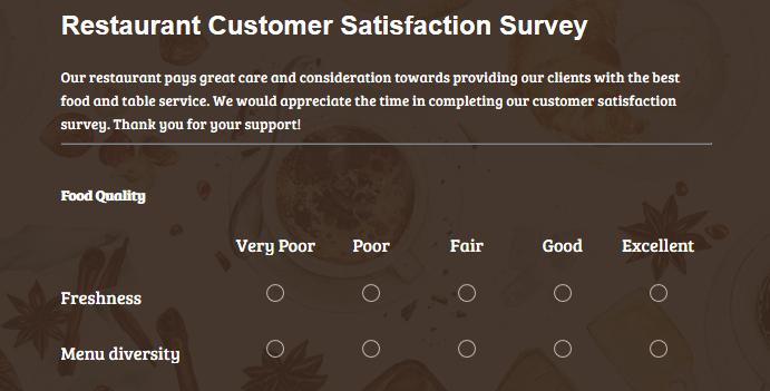 Restaurant Customer Satisfaction Survey Elegant How to Build A Great Customer Satisfaction form