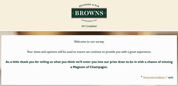 Restaurant Customer Satisfaction Survey Lovely Browns Restaurant Guest Satisfaction Survey Survey