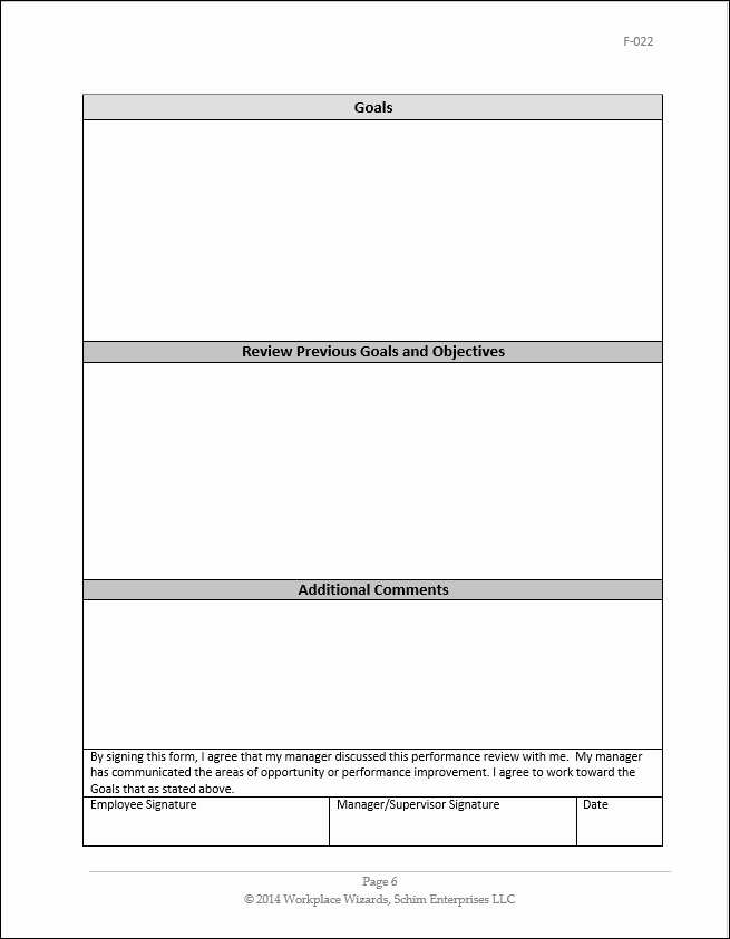 Restaurant Employee Evaluation form Beautiful Restaurant Manager Performance Evaluation form