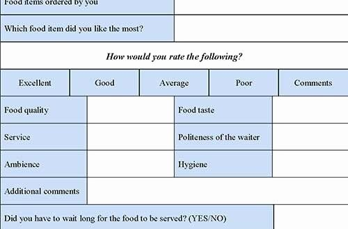 Restaurant Employee Evaluation form Luxury Restaurant Evaluation form Editable forms Human Pinterest