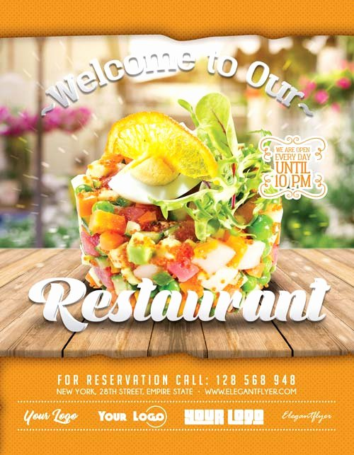Restaurant Flyer Template Free Elegant Free Restaurant Flyer Template Download Free Flyer Templates