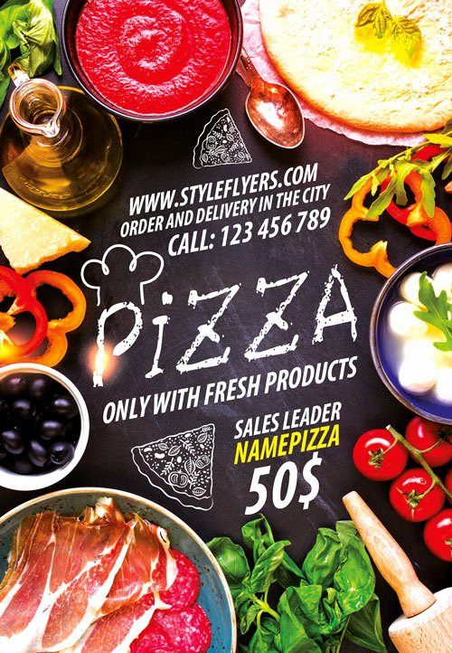 Restaurant Flyer Template Free Fresh Download the Pizza Restaurant Free Flyer Template for Shop