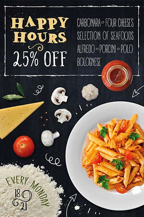 Restaurant Flyer Template Free Fresh Pasta Restaurant Free Flyer Template Download Psd for Shop