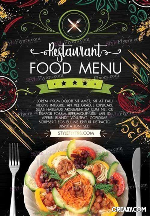 Restaurant Flyer Template Free Inspirational Restaurant Food Menu V3 2018 Psd Flyer Template Heroturko Vector Shop Psdafter Effects