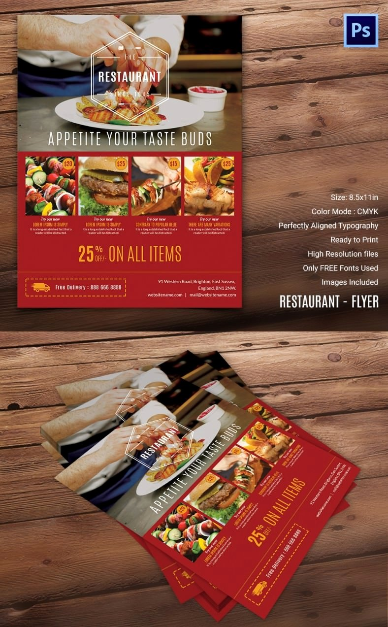 Restaurant Flyer Template Free Lovely Restaurant Flyer Template – 56 Free Word Pdf Psd Eps Indesign format Download