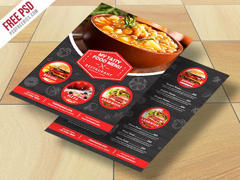 Restaurant Flyer Template Free New Restaurant Food Menu Flyer Free Psd