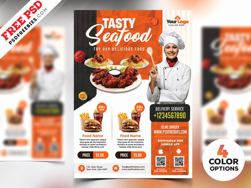 Restaurant Flyer Template Free Unique 72 Free & Premium Restaurant Templates Suitable for Professional Business