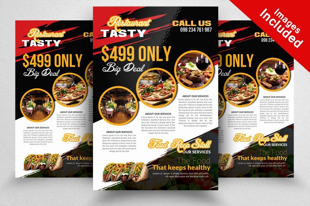 Restaurant Flyer Template Free Unique Restaurant Flyer Template