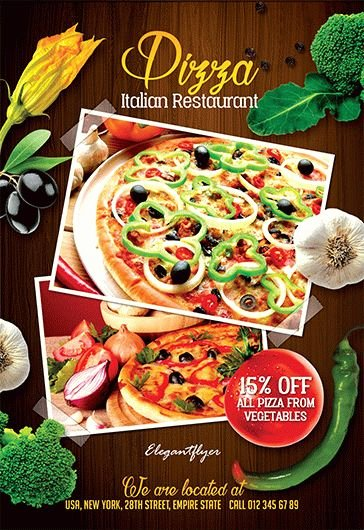 Restaurant Flyer Templates Free Beautiful Flyer for Pizza Hut Restaurant – by Elegantflyer