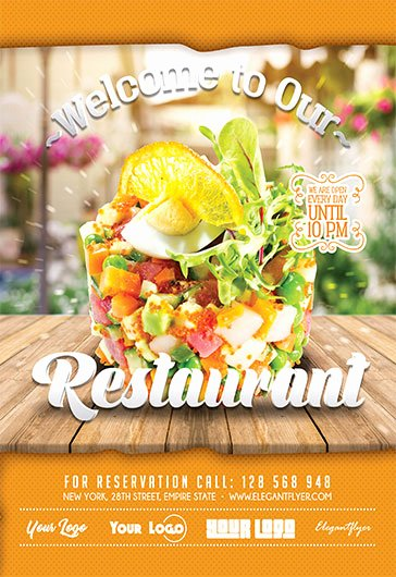 Restaurant Flyer Templates Free Beautiful Free Restaurant Flyer Templates In Psd