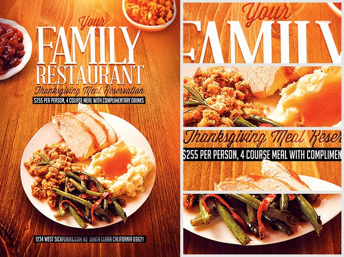 Restaurant Flyer Templates Free Elegant Thanksgiving Restaurant Flyer Template Flyerheroes