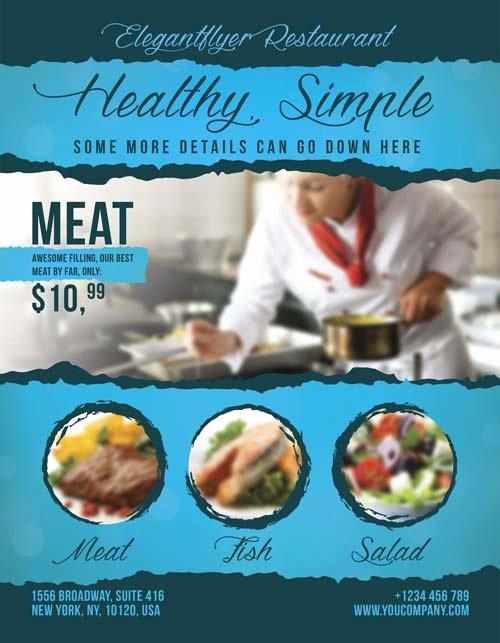 Restaurant Flyer Templates Free Inspirational Download Free Restaurant Food Flyer Psd Template for Shop