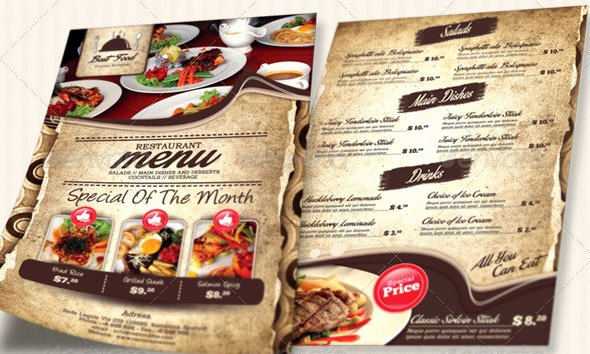 Restaurant Flyer Templates Free Lovely 19 Free & Premium Restaurant Flyer Templates Psd – Desiznworld