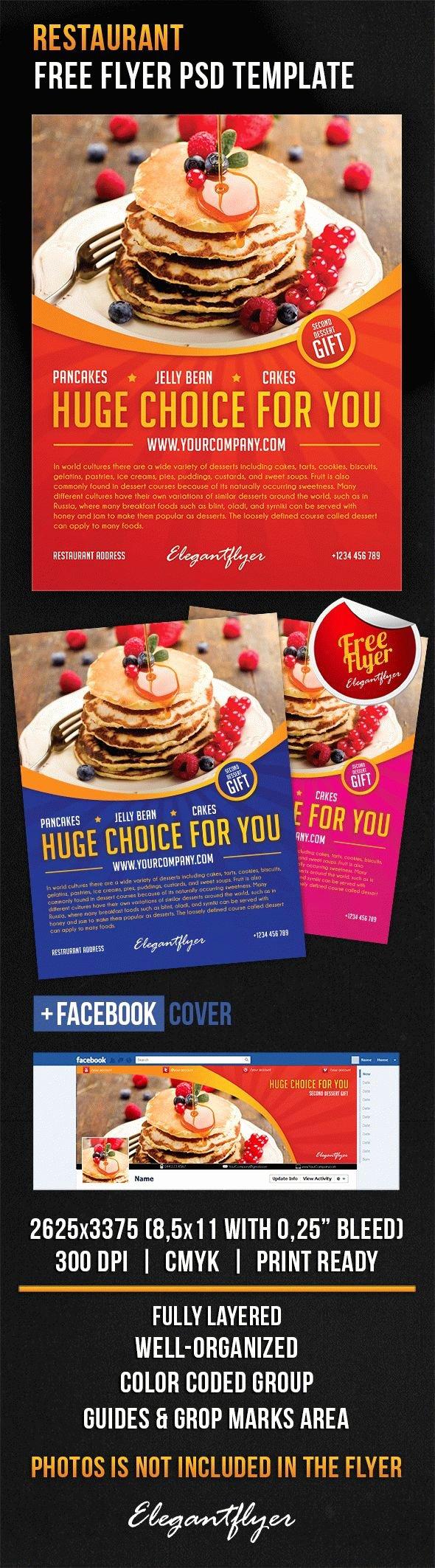Restaurant Flyer Templates Free New Restaurant – Free Flyer Psd Template – by Elegantflyer