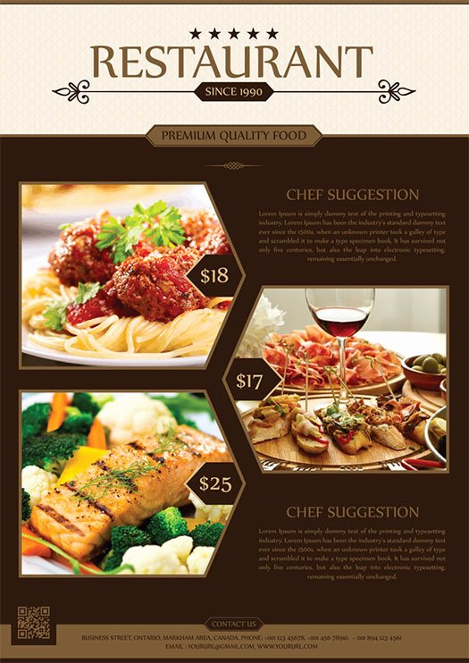 Restaurant Flyer Templates Free Unique 2017 Modern 20 Flyer Designs for Inspiration