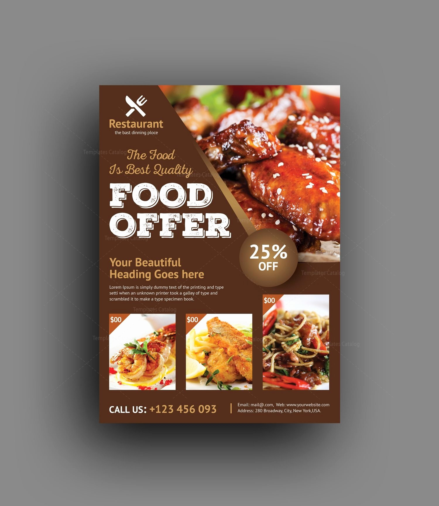 Restaurant Flyers Templates Free Awesome Luxury Restaurant Flyer Template Template Catalog