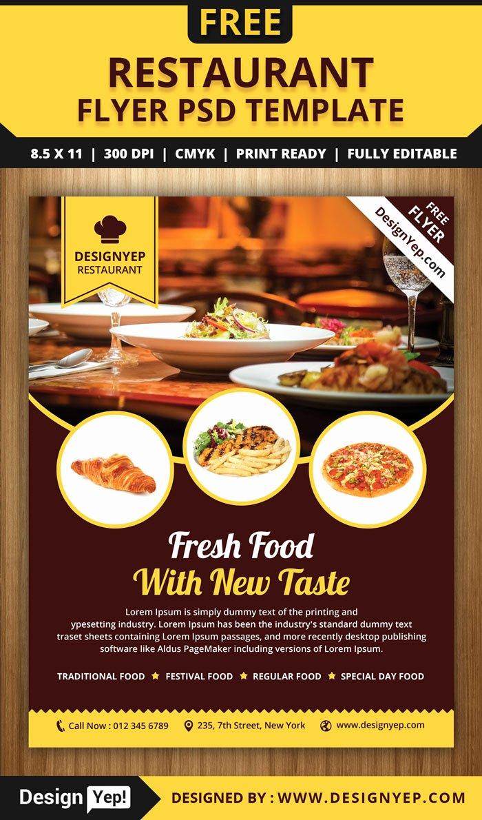 Restaurant Flyers Templates Free Beautiful 30 Free Restaurant and Food Menu Flyer Templates Designyep