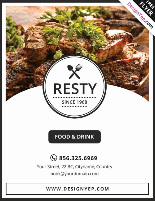 Restaurant Flyers Templates Free Best Of 13 Good Looking & Free Restaurant Flyers Templates