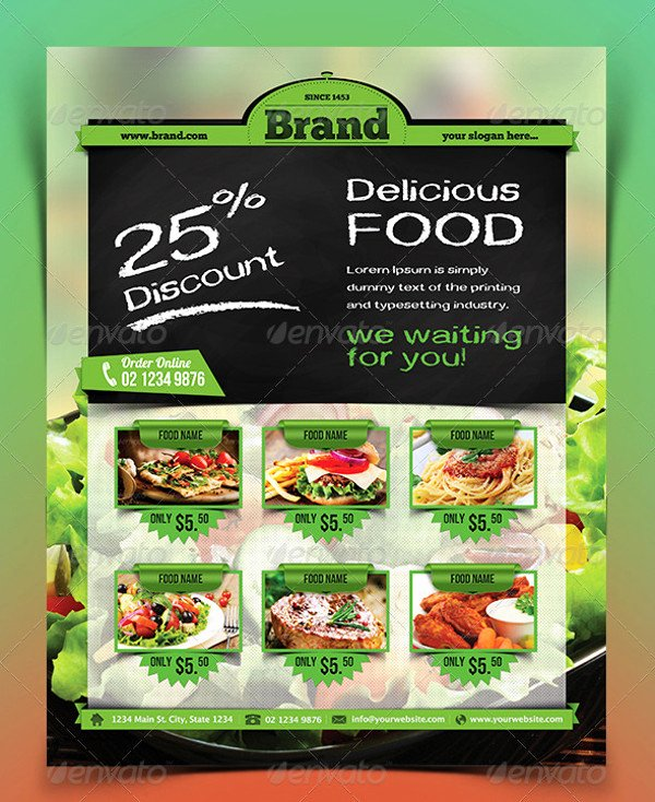 Restaurant Flyers Templates Free Best Of 32 Stunning Food Flyer Designs Word Psd Ai Eps Vector