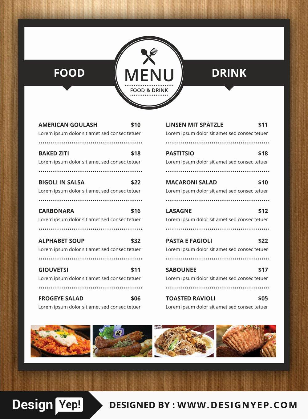 Restaurant Flyers Templates Free Elegant 40 Restaurant Food Menu Design Psd Templates