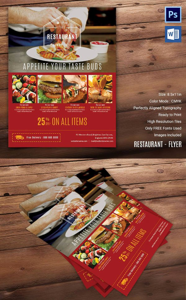Restaurant Flyers Templates Free Fresh 29 Best Microsoft Word Flyer Templates