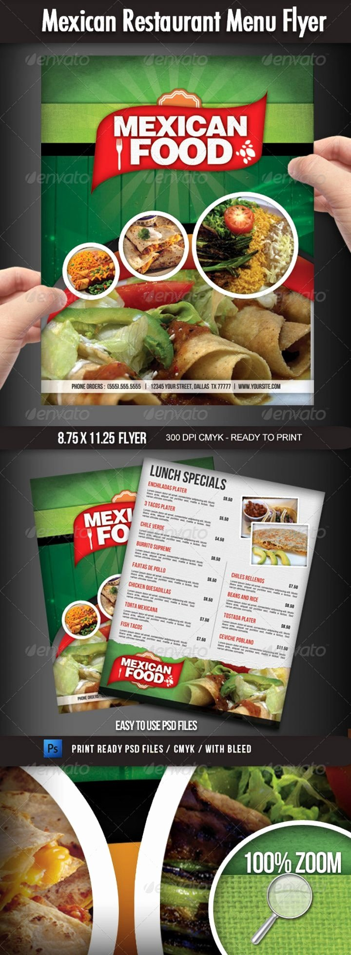 Restaurant Flyers Templates Free Fresh 9 Mexican Restaurant Menu and Flyer Templates