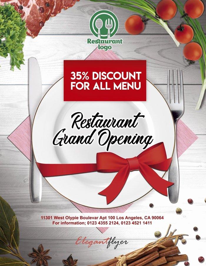 Restaurant Flyers Templates Free Fresh Restaurant Opening Free Psd Flyer Free Psd Flyer Templates Brochures Mockup & More