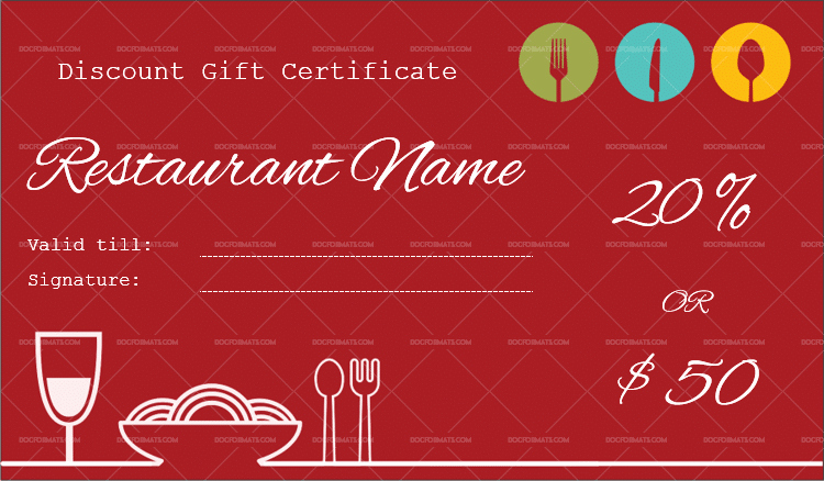 Restaurant Gift Certificates Templates Awesome 44 Free Printable Gift Certificate Templates for Word & Pdf