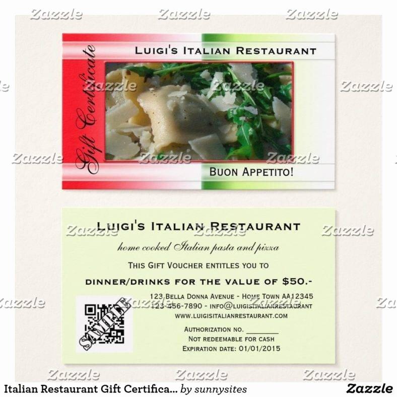 Restaurant Gift Certificates Templates Elegant 14 Restaurant Gift Certificates