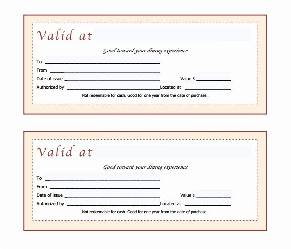 Restaurant Gift Certificates Templates Fresh Gift Certificate Template 42 Examples In Pdf Word In Design format