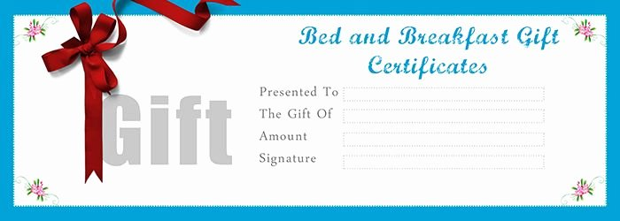 Restaurant Gift Certificates Templates Luxury Bed and Breakfast Gift Certificates Templates Free Gift Certificate Template